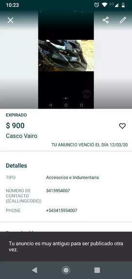 CASCO VAIRO MUY BUEN ESTADO.