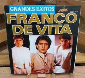 Vinilo Long Play Lp Dísco Acetato Pasta Vinyl  Franco De Vita Grandes Exitos