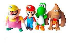 Set De figuras Coleccionables Super Mario Bros X4
