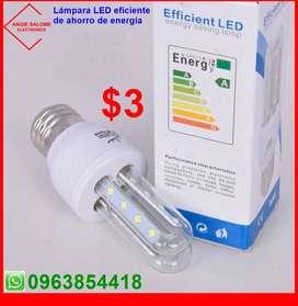 Lámpara LED eficiente de ahorro de energía a $3