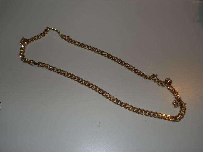 colllar cadena dorada fantasía.Unisex , Eslabones Cuadrados 0