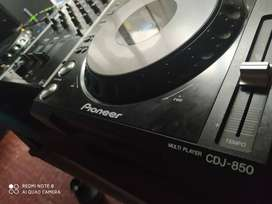 CDJ 850 y mixer gemini 3 canales