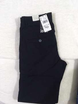 Pantalon mango slim fit azul
