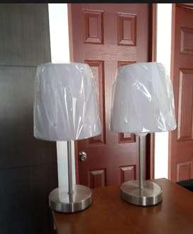 Juego de lámparas de mesa nuevas