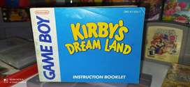Manual Kirbys Dream Land ORIGINAL para Gameboy