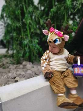 Hermoso disfraz de reno para bebe