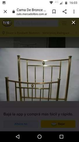 Cama antigua de bronce