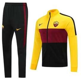 Sudadera Fútbol AS Roma Amarillo Negro