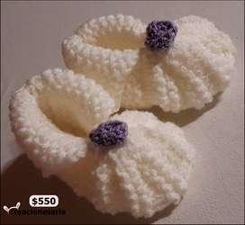 Botitas tejidas antiláergicas para bebés!