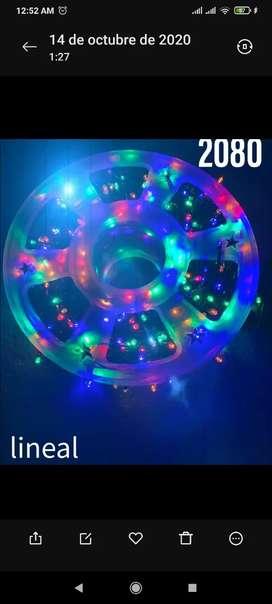 Luces navideñas lineal de 100 metros bombillo rgb