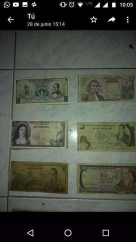 Vendo billetes antiguos colombianos