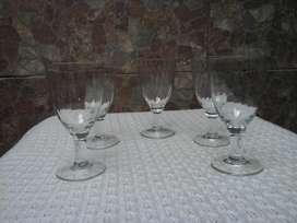 Set de 5 Copas de Vidrio