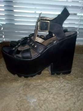Zapatos plataforma 37
