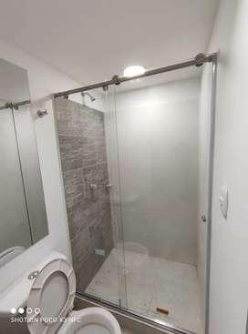 Diviciones para baño de 1 metro hasta 120  en 360.000 instalada