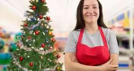 Se solicita personal para laborar en el área comercial por temporada navideña