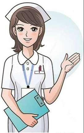 Me ofrezco como enfermera para cuidar enfermos .