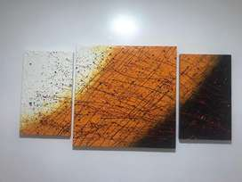 Cuadro triptico abstracto