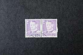 BLOCK 2 ESTAMPILLAS DINAMARCA, 1949-1950, REY FREDERICK IX, USADAS