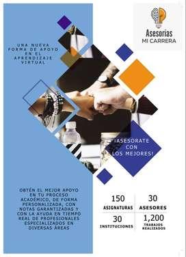 ASESORÍA ACADÉMICA AYUDAS UNAD APOYO en cursos, TRABAJOS colaborativos y quiz POLIGRAN, UNIMINUTO