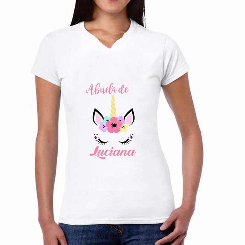 Camisetas Personalizadas Unicornios Combo X 3 0