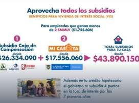 SE CEDE APARTAMENTO PARA ESTRENAR CIN SUBSIDIOS DE GOBIERNO POR MAS DE 40 MILLONES