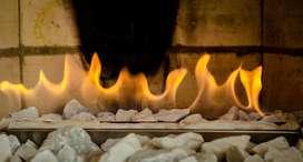 Quemador Chimenea Acero Inox Gratis Bioetanol Encendedor Piedra Fibra
