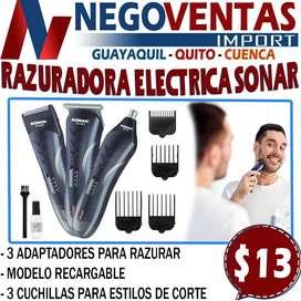 RAZURADORA ELECTRICA SONAR 3 EN 1 EN DESCUENTO EXCLUSIVO DE NEGOVENTAS