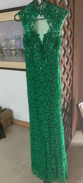 Venta de Vestido Encaje Verde