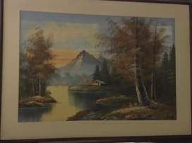 Cuadro con paisaje montañoso
