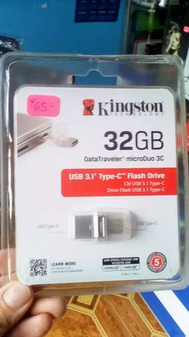 MEMORIA OTG 32GB KINGSTON TIPO C PARA SMARTPHONE Y PC USB 3.0