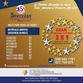 Curso de inglés 2 x 1 en Santo Domingo de los Tsáchilas