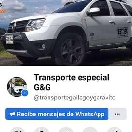 Transporte especial para turistas/ empresas