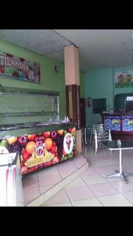 Negocio buffet frutas  y heladeria