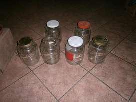frascos de 3 litros de vidrio