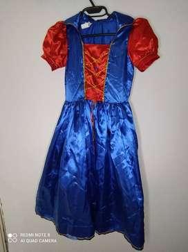 Disfraz Princesa Para Niña azul ( Tiene 1 Sola Postura)
