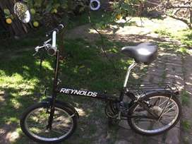 Bicicleta plegable Reynolds rodado 20