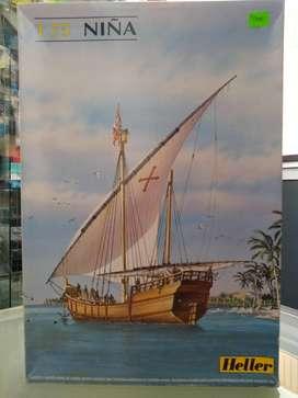 1/75 Barco Carabela Niña Colon Navio Tanque Mirage Armado