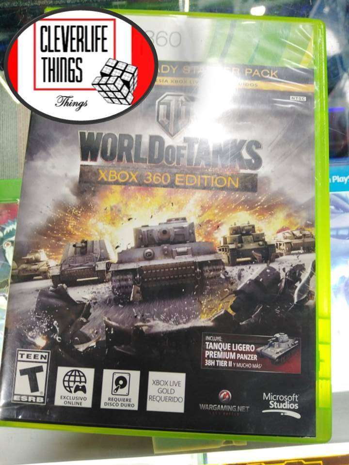 WORLD OF TANKS EDITION XBOX 360 JUEGO ORIGINAL USADO OFICIAL XBOX CON MANUAL 0