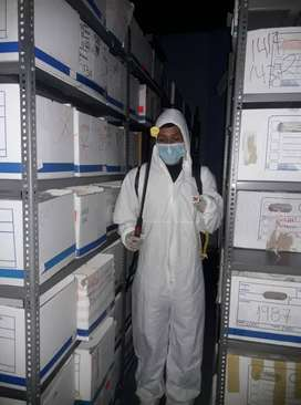 Auxiliares de limpieza, supervisores y bioquimicos.