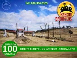 Con $100 de entrada adquiera su terreno de 1000 m² para su finca familiar crédito directo/SD3