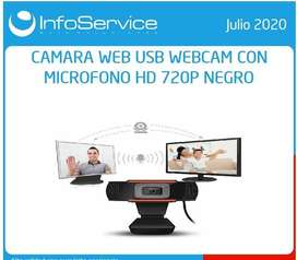 CAMARA WEB USB CON MICROFONO, NUEVA
