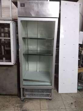 Refrigerador vertical color gris