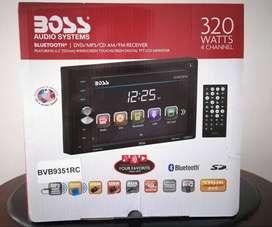 Radio Boss pantalla táctil, Bluetooth DVD USB, cámara de retro.