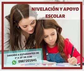 Clases de nivelación y apoyo escolar