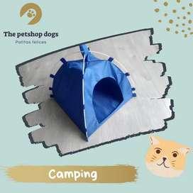 Camping para gato