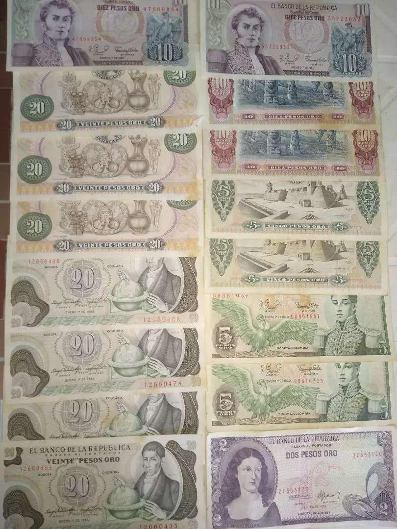 Billetes antiguos de coleccion 0