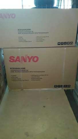 Nuevo en caja Vendo aire split  sanyo frio calor3350watt