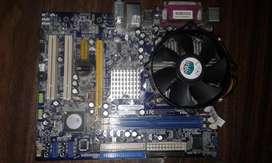 Board computador Socket Lga 775 procesador core 2 duo e6550 2,33 Ghz