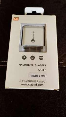 Secador XIAOMI original carga rápida Quickcharge 3.0 tipo C y V8