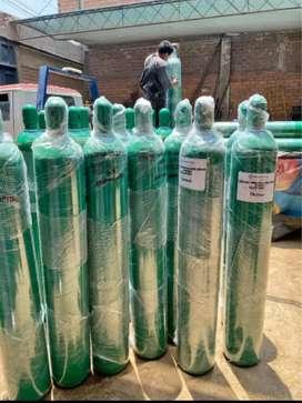Balón de oxígeno medicinal nuevo lleno + kit americano